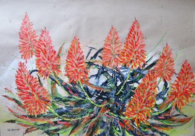 Aloe arborescens, acrylic on craft paper, 65 x 91 cm lo res.jpg