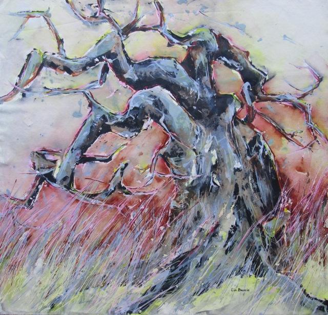 Baobab Beauty, acrylic on loose canvas, 100 x 100 cm