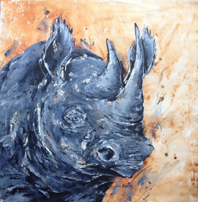 Black rhino portrait, acrylic on canvas, 77 x 79 cm lo res.jpg