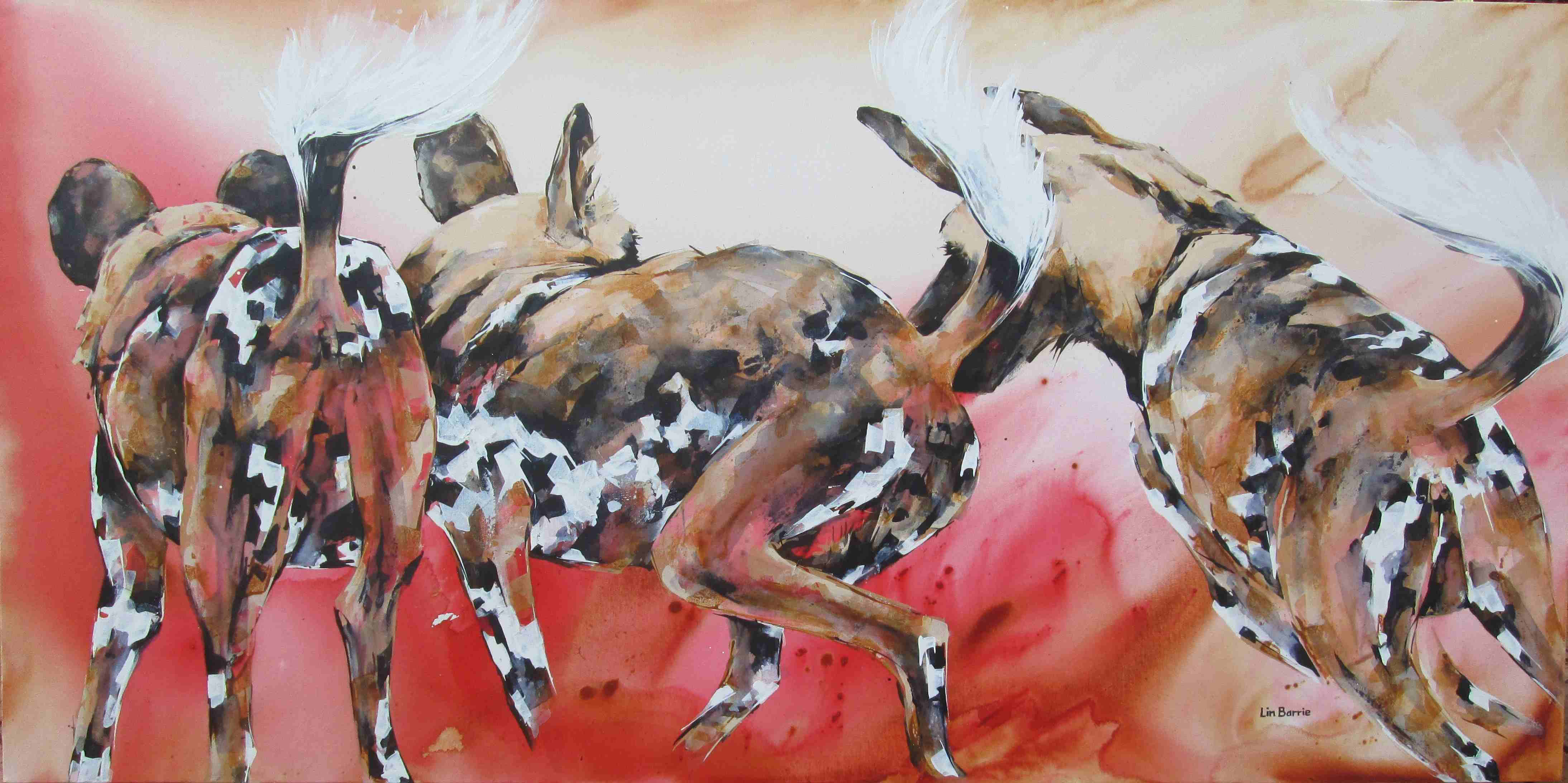 Dogs in the Dust, acrylic on stretched canvas, 100 x 200 cm lo res.JPG