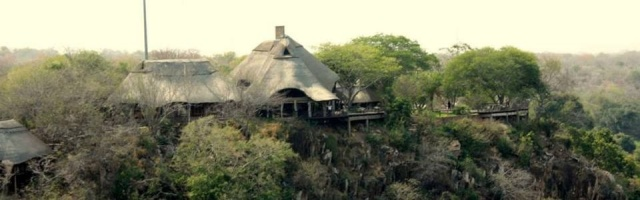 The main lodge from the air
