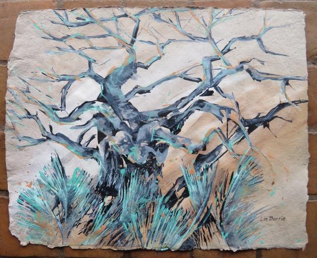 Mahove baobab, acrylic on beige handmade paper, 40 X 50 cm lo res.jpg