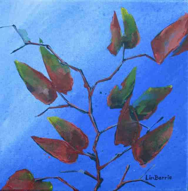 Mopani Sky, acrylic on stretched canvas, 31 x 31 cm