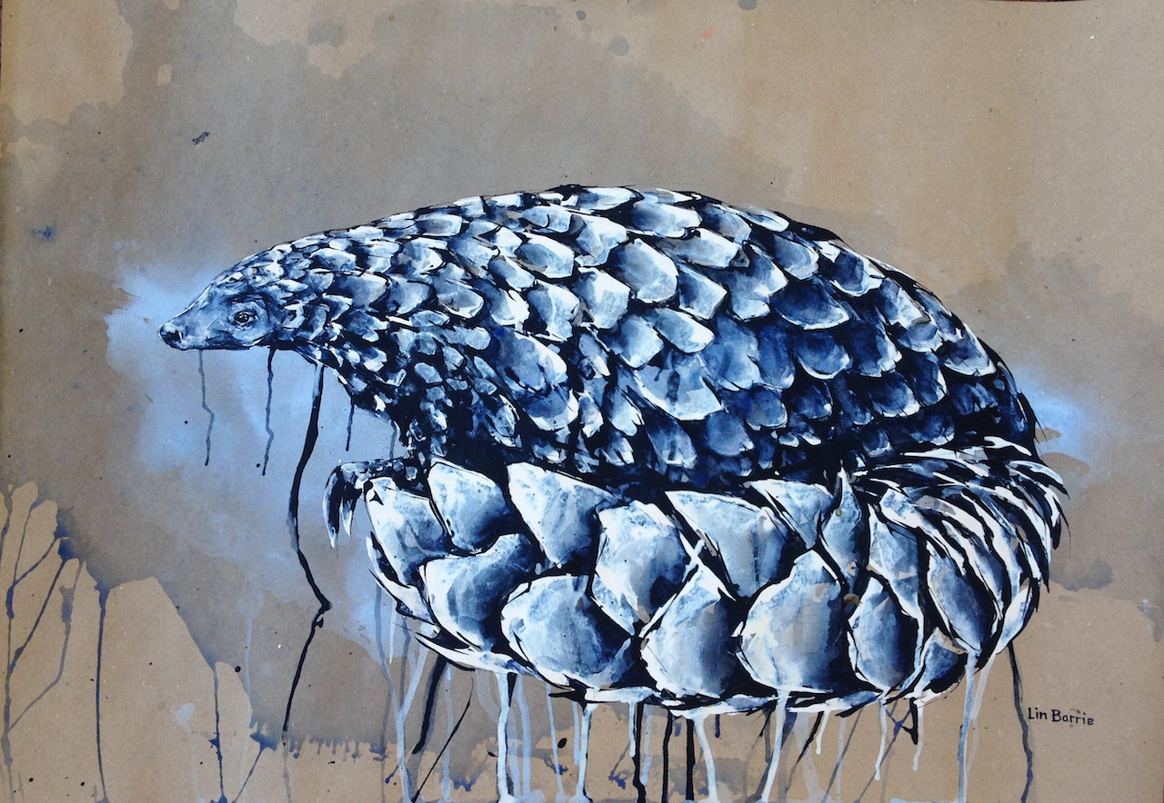 Pangolin Connection, acrylic on craft paper, 65 x 91 cm lo res.jpg