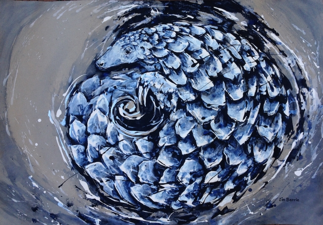 Pangolin Curl, acrylic on craft paper, 65 x 91 cm lo res.jpg