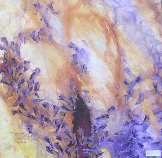 Purple season, acrylic on stretched canvas, 90 x 90 cm