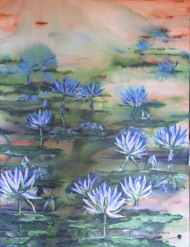 Water lilies , Acrylic on stretched canvas, lo res.jpg