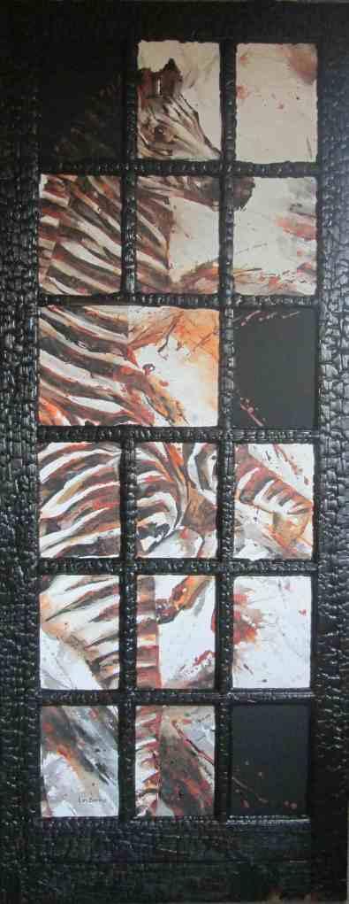 Zebra Portal - acrylic and wood - 200 x 100 cm