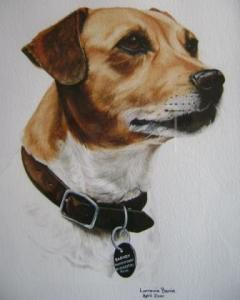 Barney-painting by Lorraine