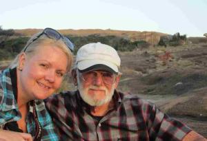 Bianca and Gramps at Domboshava