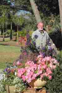 dad in his garden