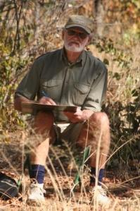 Dad sketching in the bush