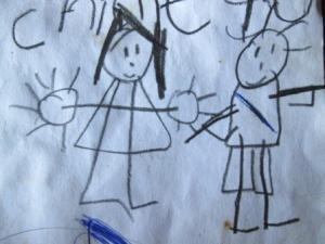 Kwane and Kowane , drawing by Jade Stockil 2013