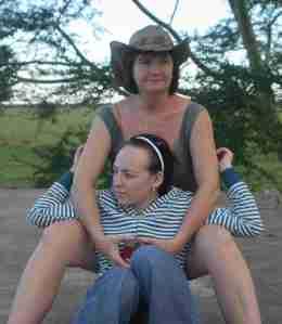 Lin and Kelli in Gorongosa