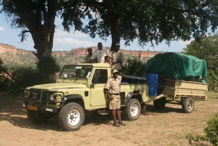 Packing up the Chilo Gorge Bush Camp Kit