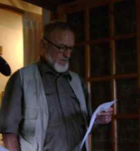 Rolf reads his poem for Dad