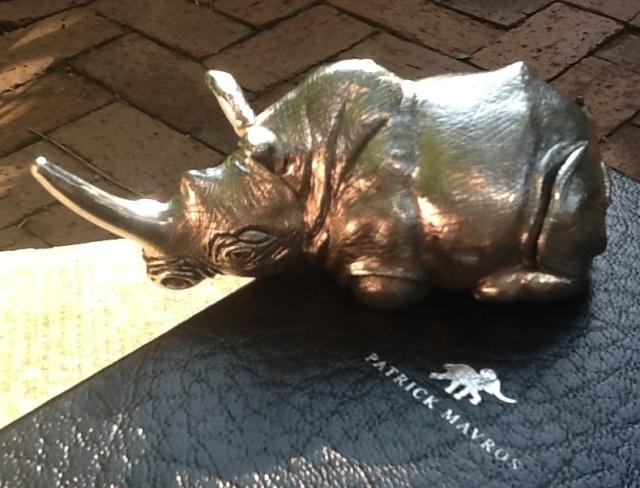 silver rhino by Patrick Mavros -med res