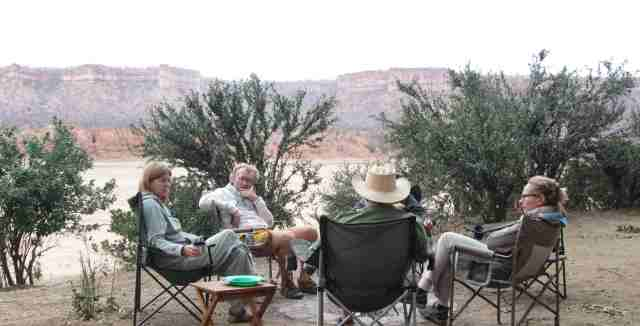 Clive hosts guests at Chilojo Cliffs