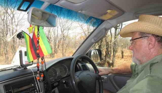 Clive Stockil Driving in Gonarezhou