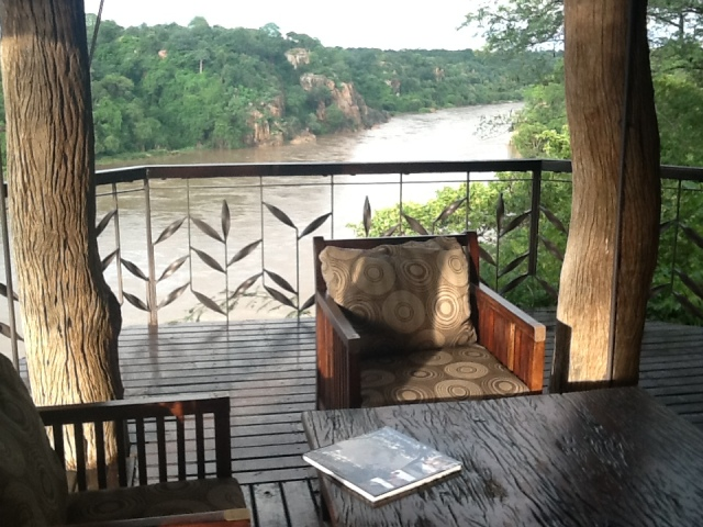 view upriver from the Chilo bar lounge