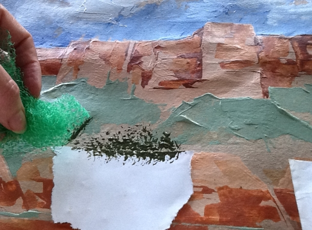 torn paper gives texture...