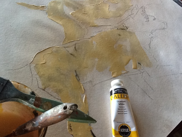 ochre patches are blocked in...