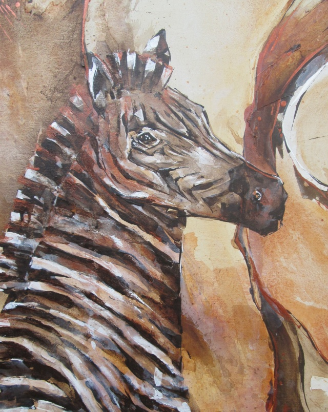 "Detail of ""Zebra Energy , Baobab Burnt"""