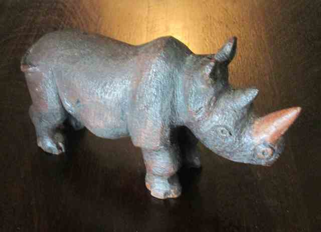 Rhino carved by Lambert