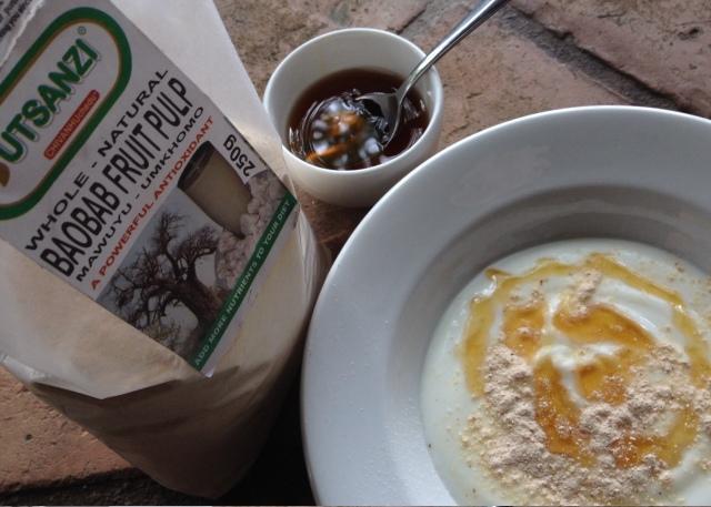 baobab powder and yoghurt breakfast....