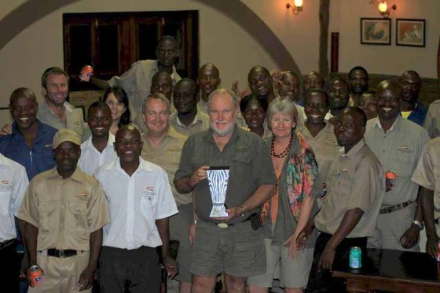 Clive Stockil and Prince William Award at Chilo Gorge Safari Lodge
