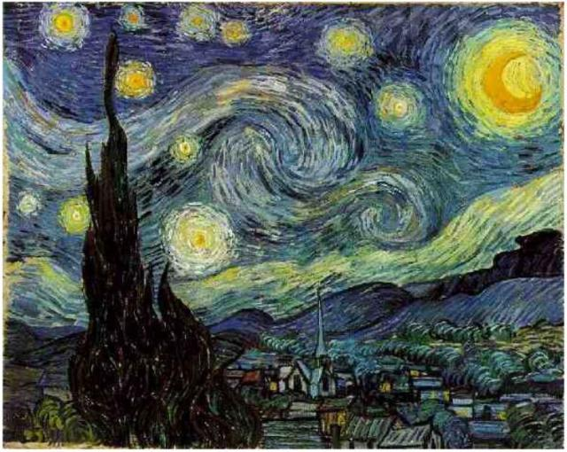 Starry Night by Vincent Van Gogh....