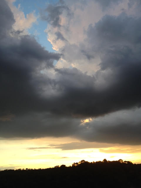 dark Tiepolo clouds...where are the angels...?!
