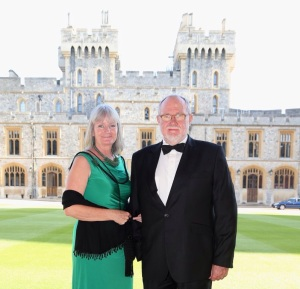 Lin and Clive at Windsor castle
