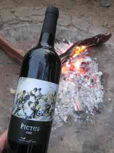 Painted Wolf Pictus wine and campfire