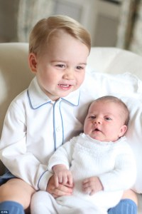 Prince George and Baby Charlotte, Taken by Princess Kate