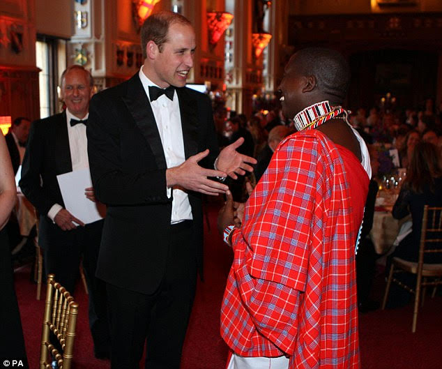 Tom Lalampaa and Prince William at Windsor Castle