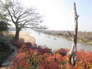 looking down the Save River from Chilo Gorge Lodge