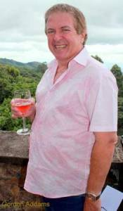 Gordon enjoys a glass of wine....