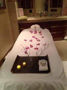 Kelli's gorgeous treatment bed