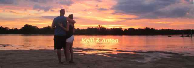 Kelli and Anton on the Save River...