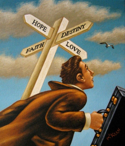 heading in the right direction...painting by Graham McKean