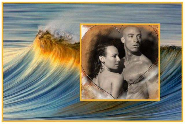 Kelli and Anton on the ocean wave