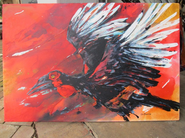 Flight 2-acrylic on stretched canvas-61 x 92 cm