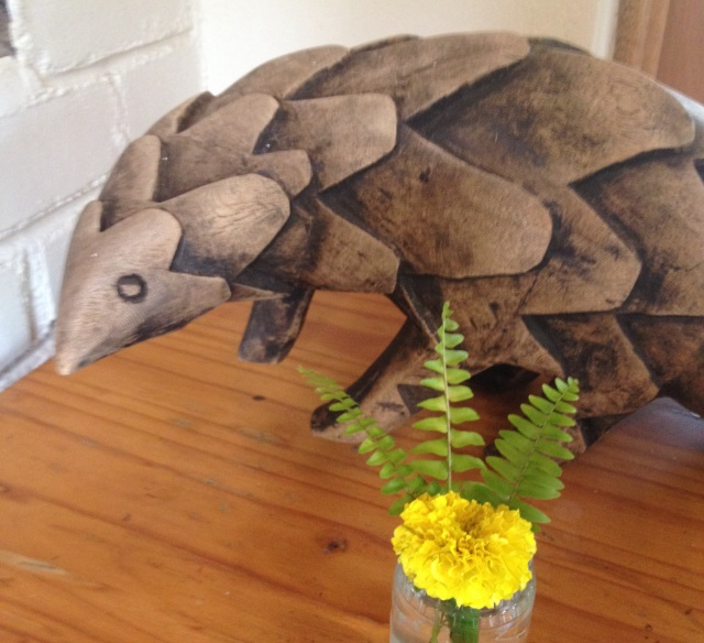 Pangolin sculpture