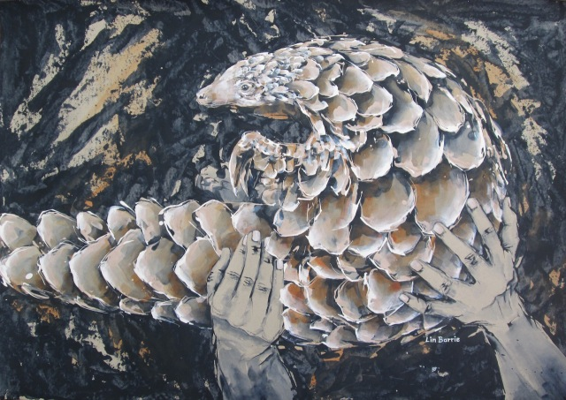 Pangolin in Your hands, acrylic on craft paper, 65 x 91 cm lo res.jpg