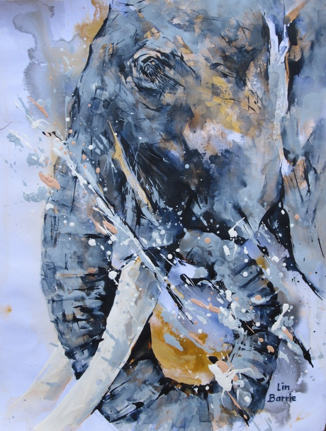 elephant musings and water, acrylic on loose canvas, A2 lo res.jpg