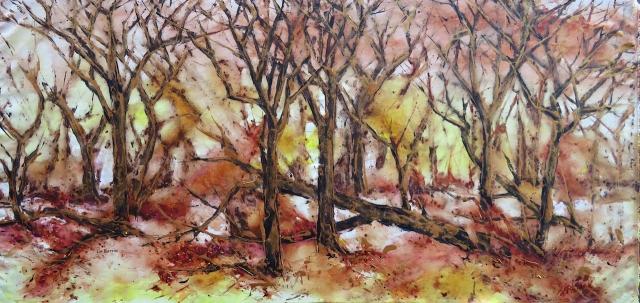 """""""Fallen Tree"""", acrylic on loose canvas, 85 x 200 cm lo res.jpg"""