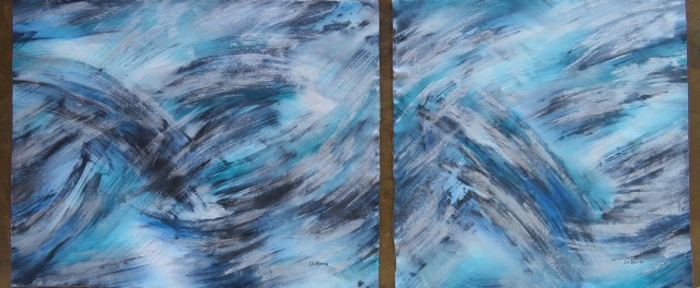 A River Runs, (diptych), I and II, acrylic on loose canvas, 80 x 100 cm and 80 x 80 cm lo res.jpg