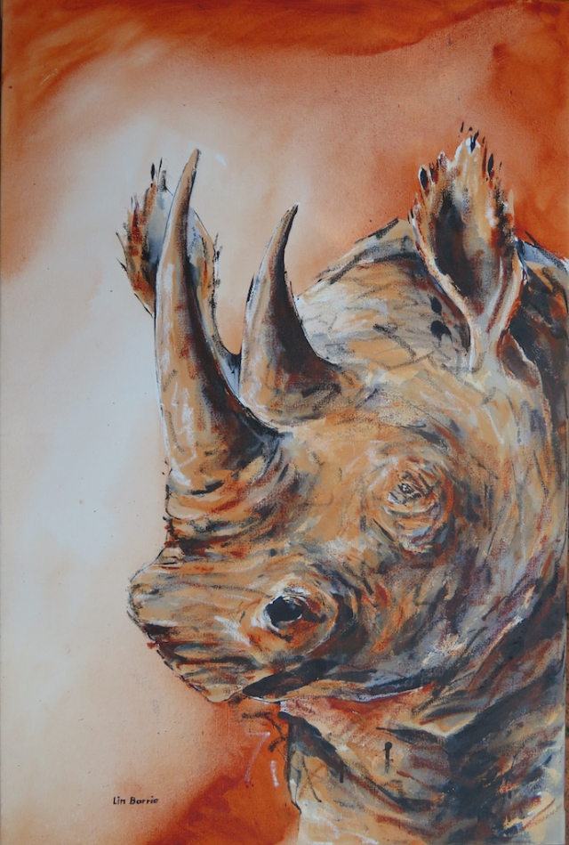Black Rhino, mixed media on stretched canvas, 3 x 2 feet lo res.jpg