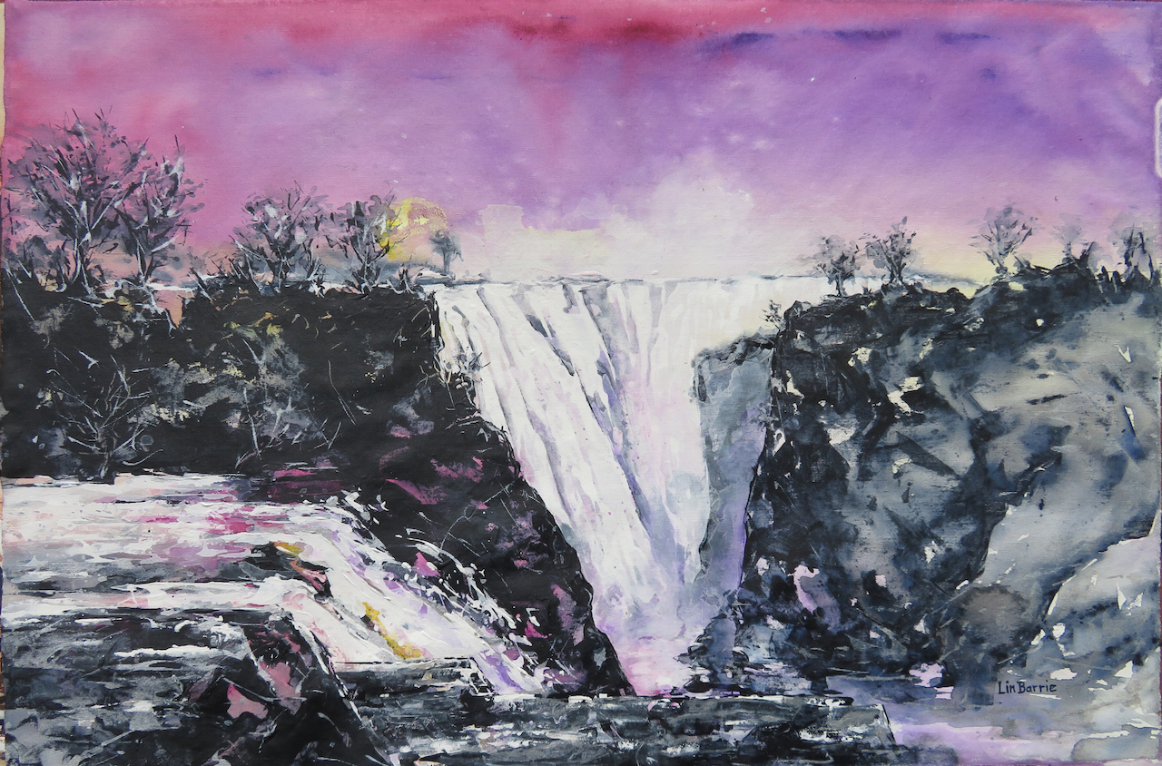 Devil's cataract at dawn, acrylic on loose canvas, 70 x 105 cm lo resjpg.jpg